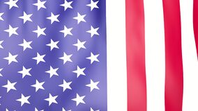 video of USA flag is waving. United States of America symbol