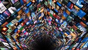 Video väggmassmediatryckning (HD) stock illustrationer