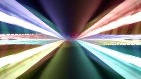 Valencia night bridge funhouse stock footage