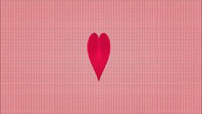 Video Valentine hearts pink striped background stock footage