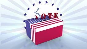 Video van Amerikaanse verkiezing royalty-vrije illustratie