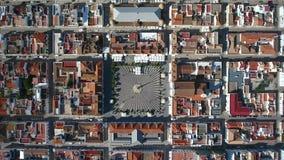 Video van de hemel Marques Pombal Square in Vila Real Santo Antonio stock videobeelden