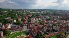 Video van de Vilnius de oude stad stock video
