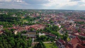 Video van de Vilnius de oude stad stock videobeelden