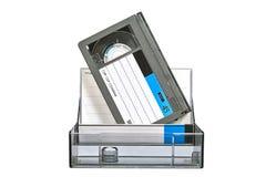 Video vassoio di VHS con il caso Immagini Stock