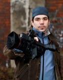 Video verslaggever Stock Afbeeldingen
