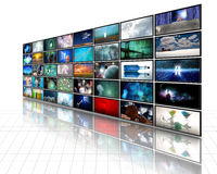 Video Vertoning Royalty-vrije Stock Afbeelding