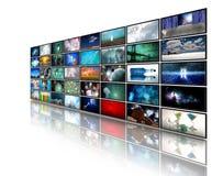Video vertoningen stock illustratie