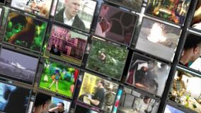 Video wall tv channels wall media. Video of video wall tv channels wall media stock video footage