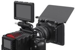 Video videocamera portatile della macchina fotografica, vista vicina Immagini Stock