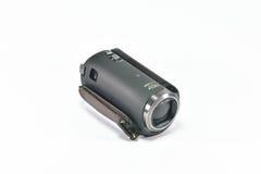 Video videocamera portatile sul fondo del whiite Immagine Stock
