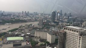 View from the London Eye stock footage