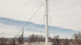 Video View Tilting Up On The Gold Strike Park Pedestrian Foot Bridge In Arvada, Colorado