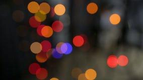 Video von Lichtern und von bokeh Effekt stock video footage