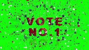 Video voor Amerikaanse verkiezing met confettien stock illustratie