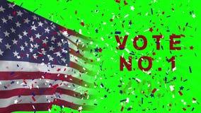 Video voor Amerikaanse verkiezing met vlag royalty-vrije illustratie