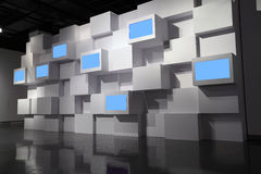 Video wall. In a exhibition room Stock Images