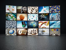 Video wall. Containing images from my portfolio Royalty Free Stock Image