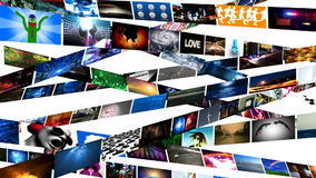 Video Wall Media Streaming (HD) Stock Images