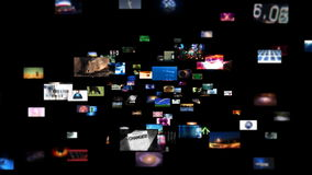 Video Wall Media Streaming (HD) stock video footage