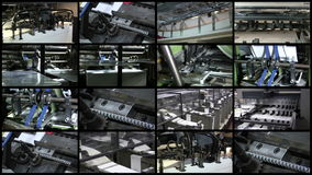 Video Wall Printing Industry Process stock video footage