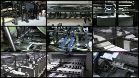 Video Wall Printing Industry Process stock video
