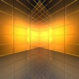 Video wall with screens. In 3d stock illustration