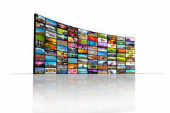 Video wall. Of TV screen royalty free stock photography