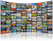 Video wall of TV screen Royalty Free Stock Photo