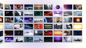 Video wall with white background stock footage