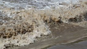 A water rapids video stock footage