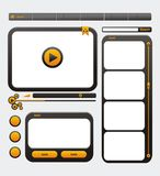 Video web site design template. Suitable for user interface Stock Photos