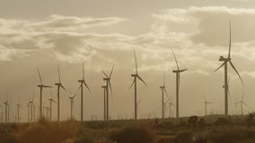 The video of windmills in the countryside stock video