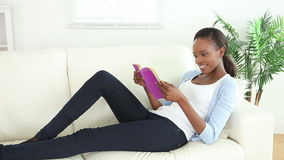 Video of a woman looking at a book Royalty Free Stock Photography