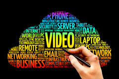 Video. Word cloud IT concept stock photography