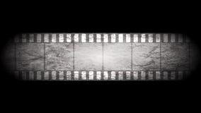 Videoanimatie van de Grunge de grijze filmstrip stock illustratie