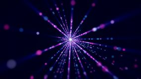 Videoanimation von grellen und Lichtstrahlen vektor abbildung