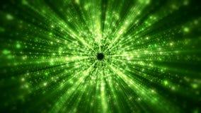 Videoanimation von Lichtstrahlen stock abbildung