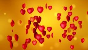 Videoanimation von roten Herzen - Valentinsgrußtag vektor abbildung