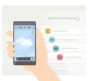 Videoapp Stock Afbeelding