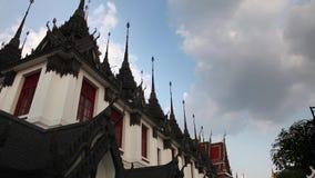 Videoaufnahmen auf Lager 1920x1080 1080p Wat Ratchanatdaram Religion Hdv Bangkok stock footage