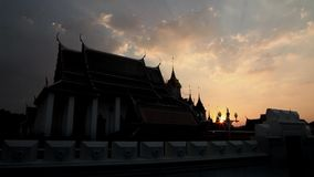 Videoaufnahmen auf Lager 1920x1080 1080p Wat Ratchanatdaram Religion Hdv Bangkok stock video footage