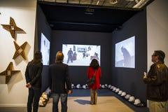 Videoausstellung. Fangen Sie 2014 ACRO, der internationale Zeitgenosse an Stockfotografie