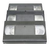 Videoband die op wit wordt geïsoleerd Stock Fotografie