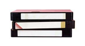 Videoband met leeg geïsoleerd etiket stock foto