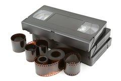 Videoband och film royaltyfria foton