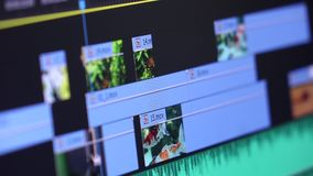 Videobearbeitungs-Film stock video footage