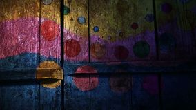 Videobewegungsgraffiti kreisen, der Zirkus ein, gefärbt stock footage