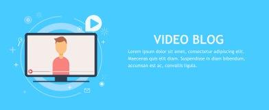 Videoblogseite Stockfotografie