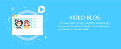 Videoblogseite Stockfoto